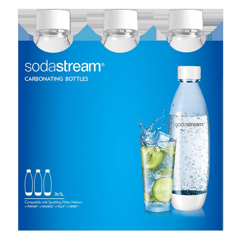Tripack Botellas SodaStream 1L Blancas