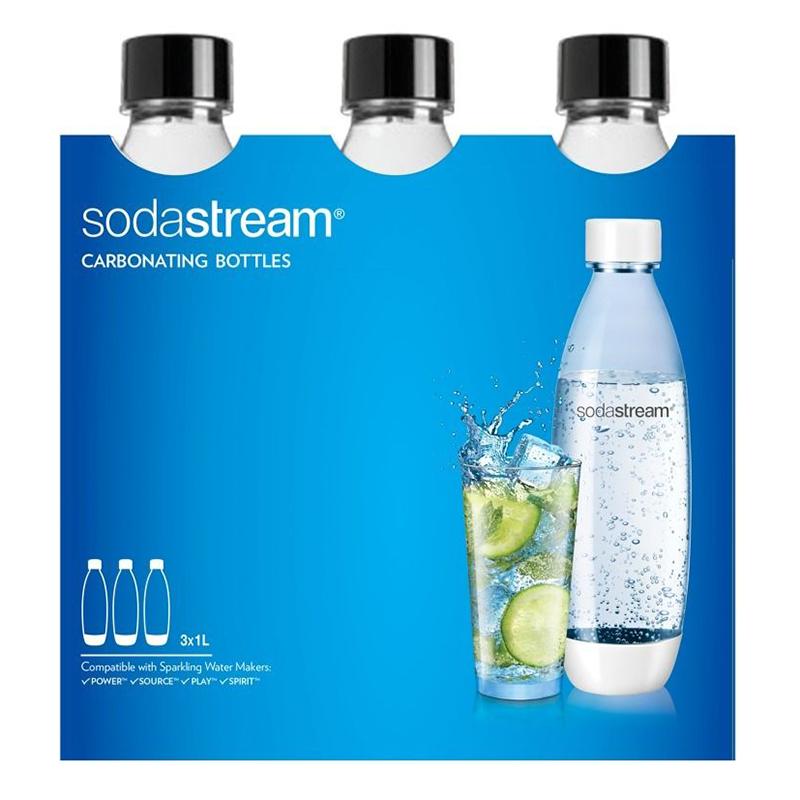 Tripack Botellas SodaStream 1L Negras